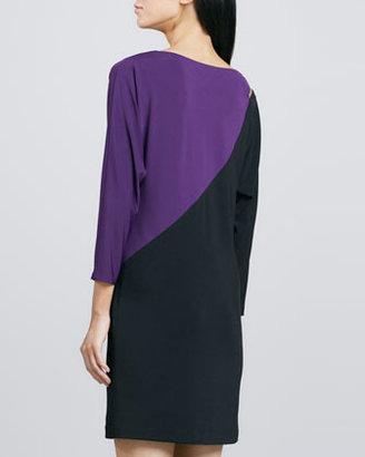 Trina Turk Iola Two-Tone Slash Jersey Dress