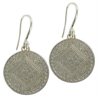 Monica Vinader Silver Disc Earrings