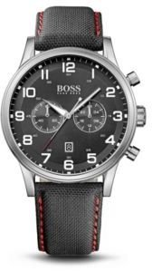 Hugo Boss 1512919 Chronograph Black Canvas Strap Aeroliner Watch One Size Assorted-Pre-Pack