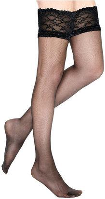 Berkshire Sheer Queen Silky Sheer Lace Top Stocking Hosiery 1361