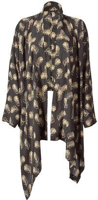 Winter Kate Black/Beige Open Kimono Top