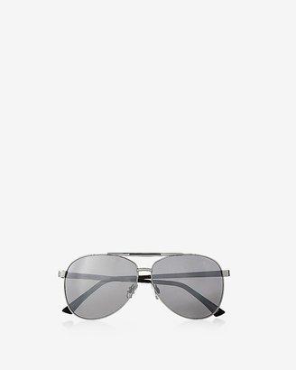 Express Enameled Bridge Mirror Aviator Sunglasses