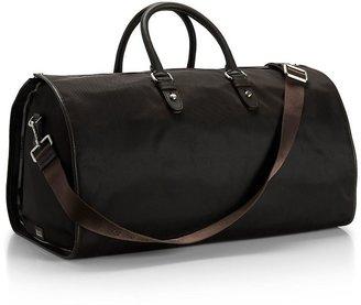 HUGO BOSS Top Handle Nylon-and-Leather 'Teodoros' Weekender Bag by BOSS Black