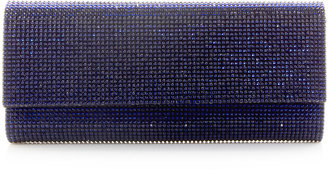 Judith Leiber Ritz Fizz Crystal Clutch Bag, Silver Dark Indigo
