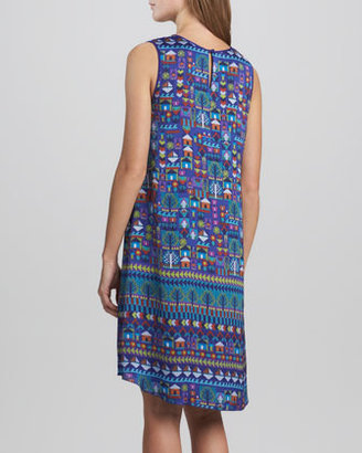 Erin Fetherston Selina Folk Art Printed Sleeveless Dress