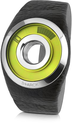 Philippe Starck Black Leather O-Ring Watch