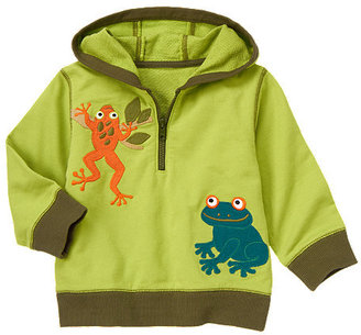 Gymboree Tree Frogs Terry Hoodie