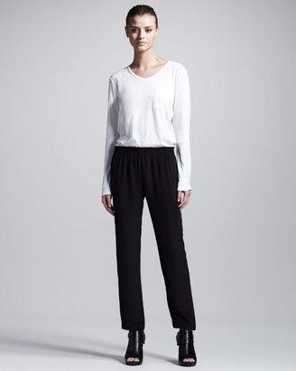 Theory Soledad Silk Cargo Pants