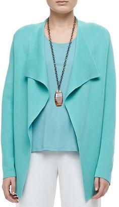 Eileen Fisher Silk-Cotton Interlock Jacket, Women's $318 thestylecure.com