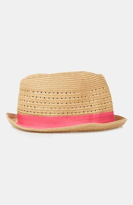 Topshop Straw Trilby Natural One Size