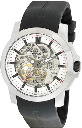 Kenneth Cole New York Automatic Silicone Strap Watch