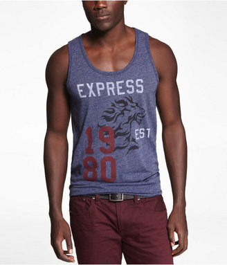 Leon Fitted Tri-Blend Graphic Tank Stack