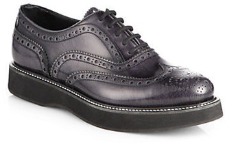 Church's Indigo Patent Leather Lace-Up Oxfords