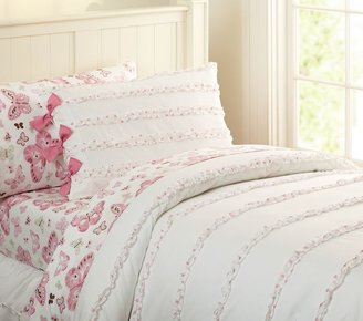 Pottery Barn Kids Ruffle Dot Duvet Cover