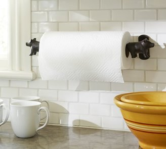 Pottery Barn Vintage Blacksmith Wall-Mount Pig Paper Towel Holder