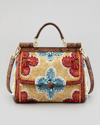 Dolce & Gabbana Miss Sicily Small Fiori Mosaic Crossbody Bag