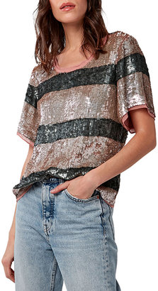 As By Df The Sequin Stripe Rugby Tee