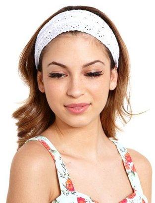 Charlotte Russe Eyelet Honeycomb Headwrap