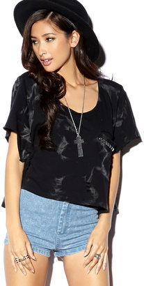 Forever 21 Cropped Studded Pullover