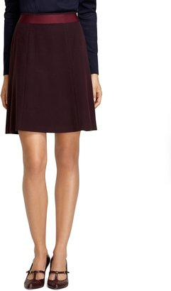 Brooks Brothers Solid Skirt with Ribbon