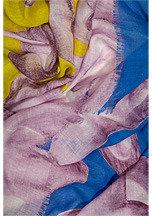 Diane von Furstenberg Hanovar Scarf in Fleur Landscape Blue