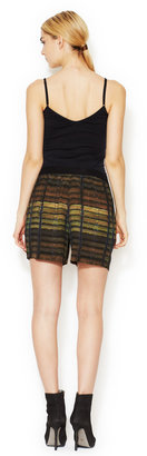 Theyskens' Theory Pung Iding High-Rise Silk Short