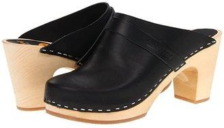 Swedish Hasbeens Slip In (Black) Women's Clog Shoes