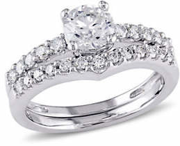 CONCERTO 14K White Gold 0.89 TCW Diamond Bridal Set