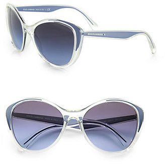 Dolce & Gabbana Cat's-Eye Acetate Sunglasses