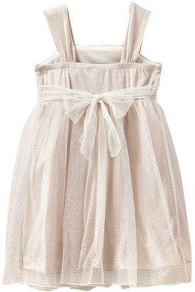 My Michelle shirred glitter dress - girls 4-6x