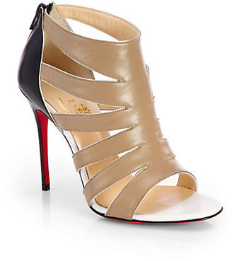 Christian Louboutin Leather Sandal Ankle Boots