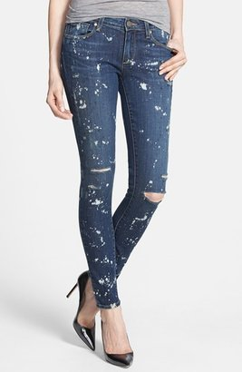 Paige 'Verdugo' Bleach Splatter Skinny Jeans (Corrosion)