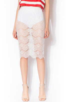 NU New York Lace Midi Skirt