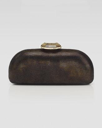 Judith Leiber Overture Olivia Domed Rectangle Clutch Bag, Gold