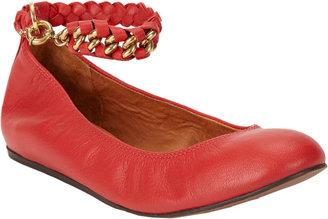 Lanvin Chain Ankle-Strap Ballerina Flats