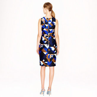 J.Crew Collection wool-silk dress in Cubist print