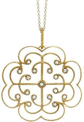 London Road 9ct Gold Portobello Large Diamond Lattice Pendant Necklace