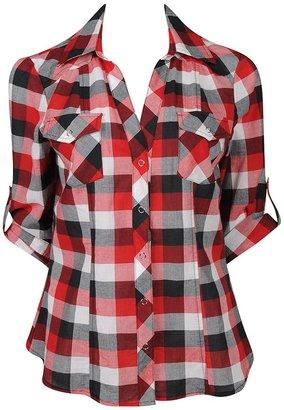 Forever 21 Fab Snap Button Plaid Shirt