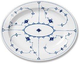 Royal Copenhagen Blue Fluted Plain Oval Platter, 14.25