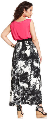 Amy Byer Plus Size Dress, Sleeveless Belted Maxi