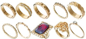 Asos Big Jewel Ring Pack