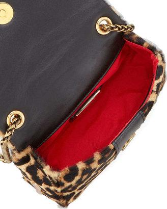 Christian Louboutin Sweet Charity Leopard-Print Calf Hair Crossbody Bag