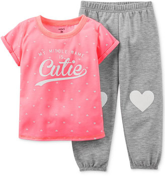 Carter's Toddler Girls' 2-Piece Cutie Pajamas