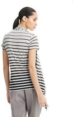 DKNY PURE Gradient Stripe Cozy Twofer Tee