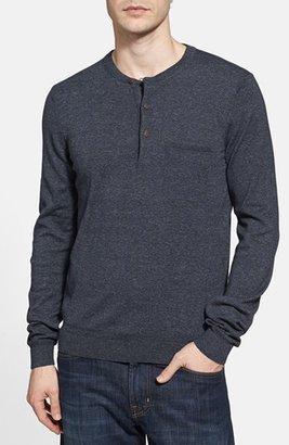 HUGO BOSS 'Pilgrim' Henley Sweater