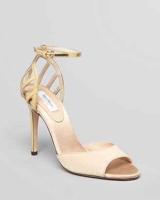 Max Mara Open Toe Ankle Strap Sandals - Vibo High Heel