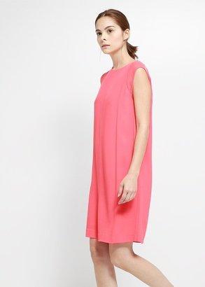 MANGO Chiffon Appliqué Dress