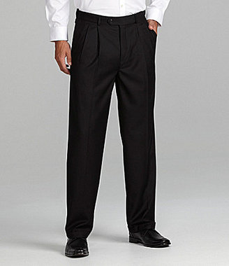 Roundtree & Yorke Big & Tall Double-Pleated Expander Dress Pants