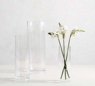 Pottery Barn Aegean Clear Glass Vases