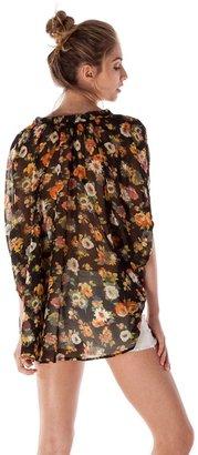 Lucca Couture Frances Floral Tie Top